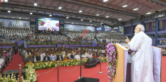 The Prime Minister, Shri Narendra Modi addressing at the 56th Convocation of the Indian Institute of Technology, Madras, in Chennai, Tamil Nadu on September 30, 2019.