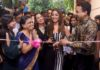 Hina Khan inaugurating Wavelength Unisex Salon with owner Amit Agarwal