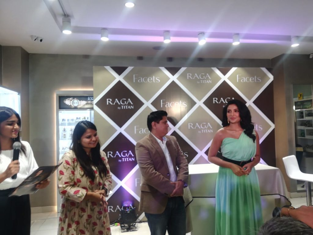 Actress Subhashree Ganguly launches Facets collection by Titan Raga