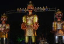 60-feet-tall Ravana effigy to be burnt on Dussehra by Salt Lake Sanskritik Sansad & Sanmarg in Central Park(Salt LAKE), Kolkata_1