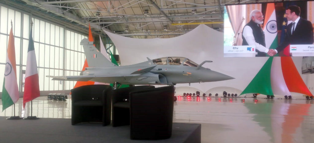 The newly inducted Rafale fighter aircraft, in Merignac, France on October 08, 2019.