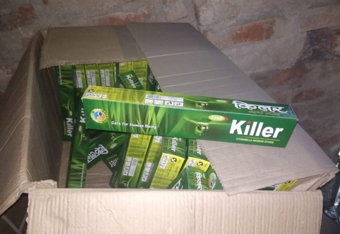 Subject:State Agriculture Department Raids Manufacturer of Illegal Mosquito Repellent Incense Sticks in Kolkata