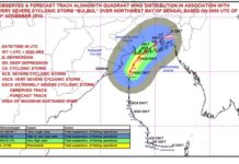 Bulbul Cyclone Route West Bnegal to Bangladesh