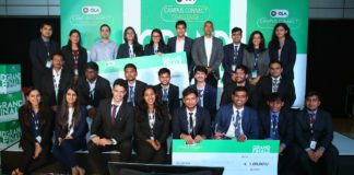 Finalists of Ola Campus Connect Challenge 2019 with judges