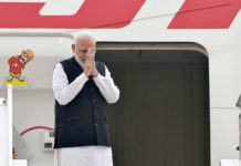 The Prime Minister, Shri Narendra Modi emplanes for Brazil to take part in BRICS Summit, in New Delhi on November 12, 2019.