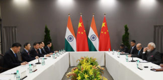 The Prime Minister, Shri Narendra Modi meeting the President of the People's Republic of China, Mr. Xi Jinping, on the sidelines of BRICS Summit, in Brazil on November 13, 2019.