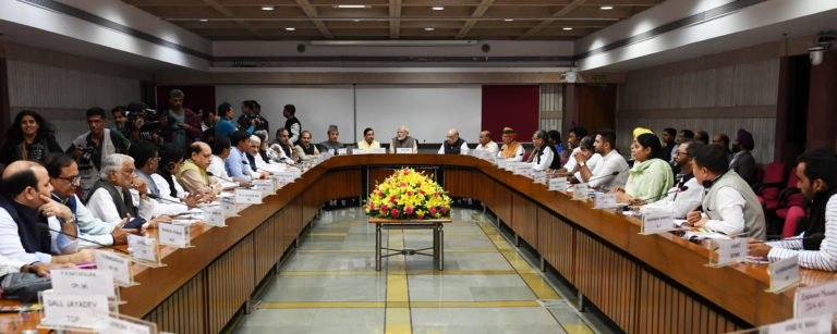 Prime Minister attends All Parties Leaders Meeting ahead of Winter Session of Parliament beginning tomorrow