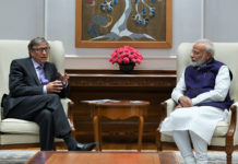 The Co-Chair of the Bill & Melinda Gates Foundation, Mr. Bill Gates calling on the Prime Minister, Shri Narendra Modi, in New Delhi on November 18, 2019.