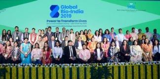 The Secretary, Department of Biotechnology, Dr. Renu Swarup at the Closing Ceremony of the Global Bio-India Summit, 2019, in New Delhi on November 23, 2019.