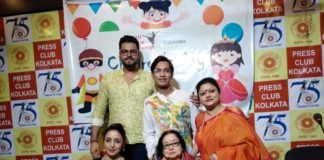 Left to Right- designer Gulshan Banu, Veteran actress Madhubi Mukherjee, Indrani Ganguly director of shristi dance acedemy and Odissi dancer Avirup Sengupta