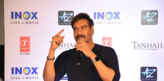 Ajay Devgn during the Press Conference of upcoming Bollywood film Tanhaji The Unsung Warrior held at Inox Quest Mall, Kolkata_13