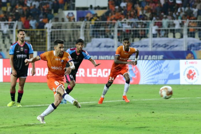 Ferran Corominas doubled his tally on Sunday with a penalty as FC Goa made it to the top of the Hero ISL table with a 3-0 win over Odisha FC
