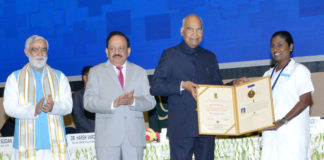 President of India presents the National Florence Nightingale Awards