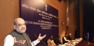 The Union Home Minister, Shri Amit Shah addressing the All India Conference of Director Generals/Inspector Generals of Police-2019, in Pune on December 06, 2019.