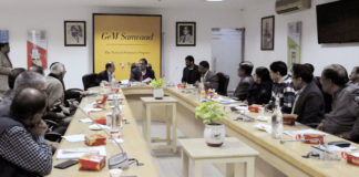 The Commerce Secretary, Dr. Anup Wadhawan addressing at the launch of the national outreach Programme, GeM Samvaad, in New Delhi on December 17, 2019.