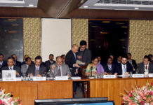 The Union Minister for Finance and Corporate Affairs, Smt. Nirmala Sitharaman chairing the 38th GST Council meeting, in New Delhi on December 18, 2019. The Minister of State for Finance and Corporate Affairs, Shri Anurag Singh Thakur is also seen.