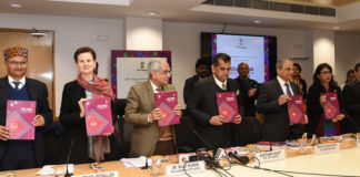 The Vice-Chairman NITI Aayog, Dr. Rajiv Kumar launching the SDG India Index and Dashboard 2019-20, in New Delhi on December 30, 2019. The CEO, NITI Aayog, Shri Amitabh Kant and other dignitaries are also seen.