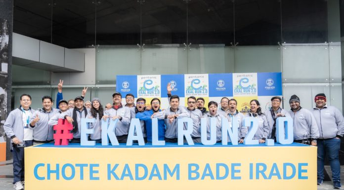 Organizers with the Participants of Ekal Run