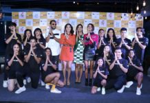 Punit J Pathak, Neeti Mohan, Mukti Mohan, and Shakti Mohan with the dance troupe at the launch of Break A Leg Season 2