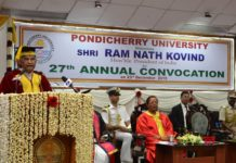President of India Addresses 27th Convocation of Pondicherry University