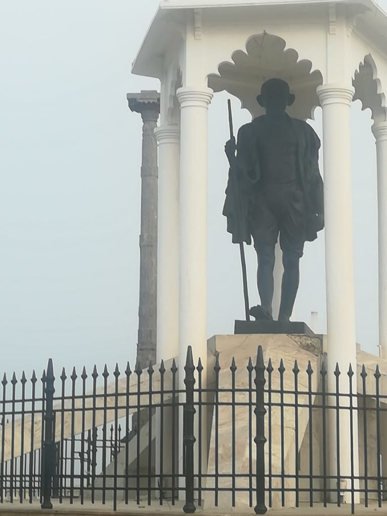 Mahatma Gandhi Statue Pondicherry Seaside