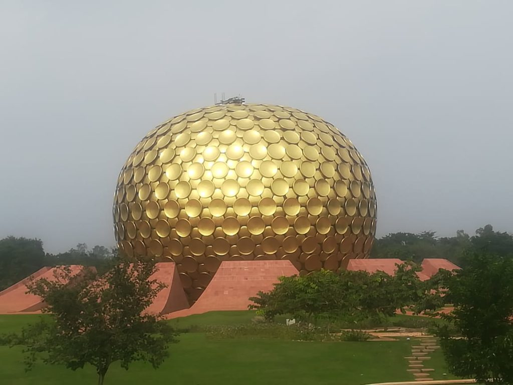 Matri Mandir Auroville at Pondicherry