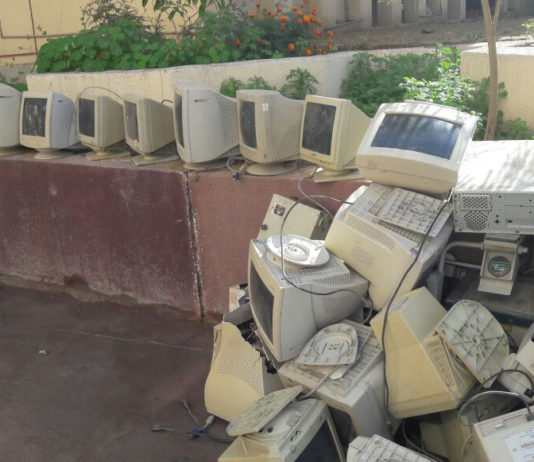 a stock of e waste