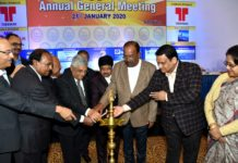 Tapan Dasgupta, Pradip Kumar Mazumdar, Tarun Kanti Ghosh, Rajesh Kumar Bansal during the inauguration ceremony of 55th Annual General Meeting organized by President & Members of the Executive Committee of WBCSA_1