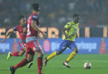 KBFC striker Bartholomew Ogbeche scored his seventh Hero ISL goal this season against Jamshedpur FC today