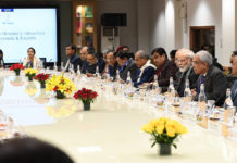 The Prime Minister, Shri Narendra Modi interacting with the Economists and Experts in a meeting, at NITI Aayog, in New Delhi on January 09, 2020.