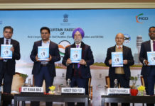 "The Minister of State for Housing & Urban Affairs, Civil Aviation (Independent Charge) and Commerce & Industry, Shri Hardeep Singh Puri releasing the publication at the Curtain Raiser Ceremony of ""WINGS INDIA-2020"", in New Delhi on January 09, 2020. The Secretary (Civil Aviation), Shri Pradeep Singh Kharola and other dignitaries are also seen."