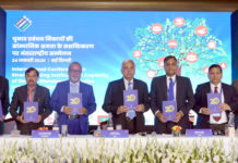 "The Chief Election Commissioner, Shri Sunil Arora releasing the ""ICT 2020, a compendium of 20 Apps for Election"", at a function, in New Delhi on January 24, 2020. The Election Commissioners, Shri Ashok Lavasa and Shri Sushil Chandra and other dignitaries are also seen."