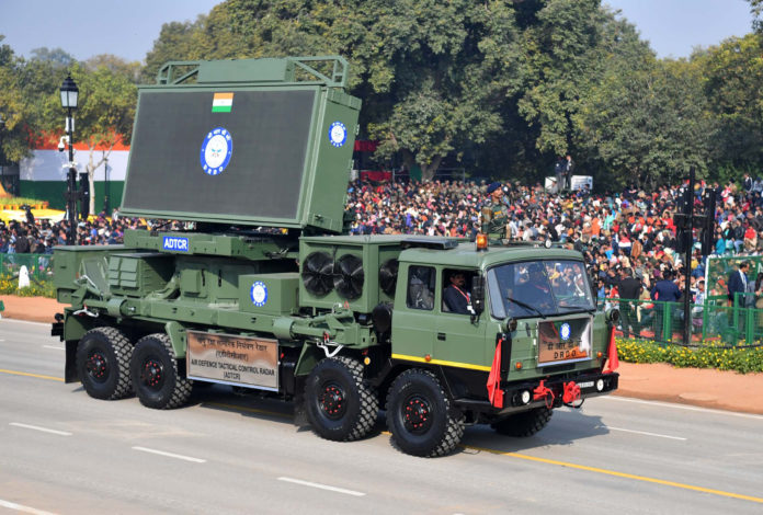 Air Defence Tactical Control Radar (ADTCR), at the 71st Republic Day Celebrations, at Rajpath, in New Delhi on January 26, 2020.