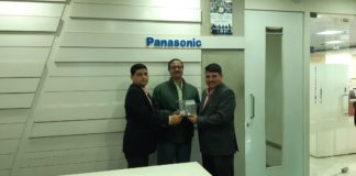 (L-R): Sougata Chakraborty, Panasonic, Zonal Head - East Region, Nilanjan Pathak and Sandeep Sehgal, Business Chief, Imaging Business Group, Panasonic India & SAARC