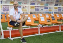 Eelco Schattorie head coach of Kerala Blasters FC before the match 67 of the Indian Super League ( ISL ) between FC Goa and Kerala Blasters FC held at the Jawaharlal Nehru Stadium, Goa, India on the 25th January 2020. Photo by: Faheem Hussain / SPORTZPICS for ISL