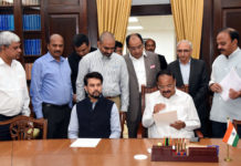 A delegation of the All India Poultry Breeders Association calling on the Vice President, Shri M. Venkaiah Naidu, in New Delhi on March 13, 2020.
