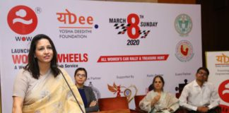 Mrs. Jyotsna Angara, Director YoDee Foundation at 'Women for Women Taxi Service-WOW Women on Wheels' press conference (1)