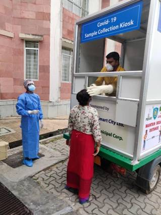 Agartala Smart City uses mobile kiosk for COVID-19 sample collection