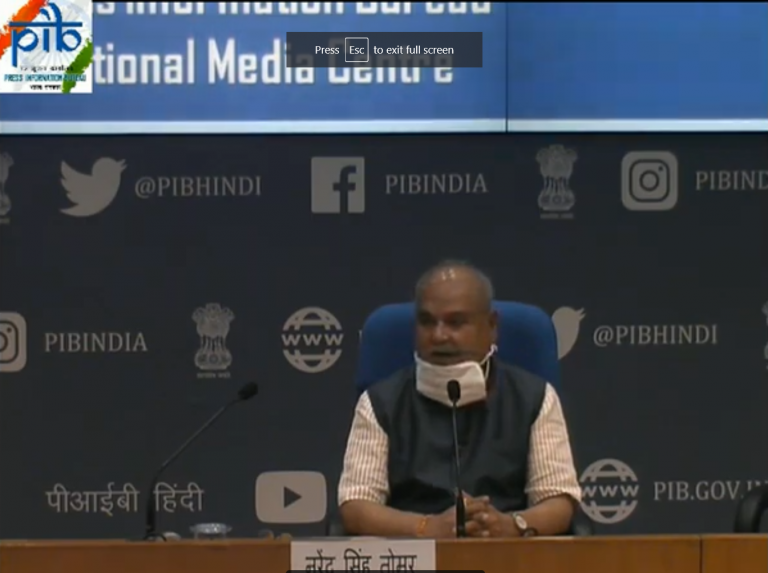 Press Conference by Agriculture Minister Narendra Singh Tomar on 29 April 2020