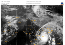 Amphan Super Cyclone Location 115 20 May 2020
