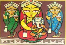 Goddess Durga By Artist Legend Jamini Roy