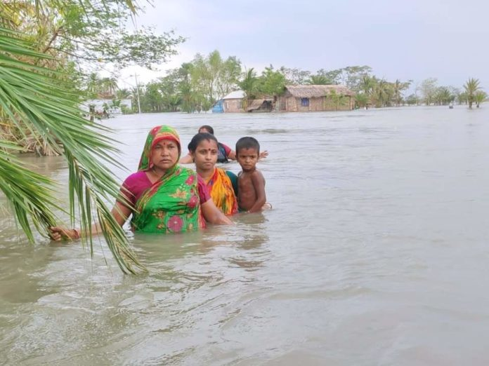 The tide is flowing in the backyard of Bangladesh's Satkhira coast, 27 days after the Amfan violence