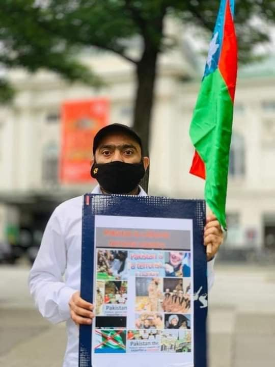People of Balochistan held a demonstration at Hamburg City in Germany against Baloch Genocide by Pakistan