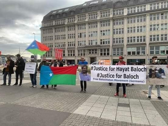 People of Balochistan held a demonstration in Hamburg City in Germany against Baloch Genocide by Pakistan - Photo 3