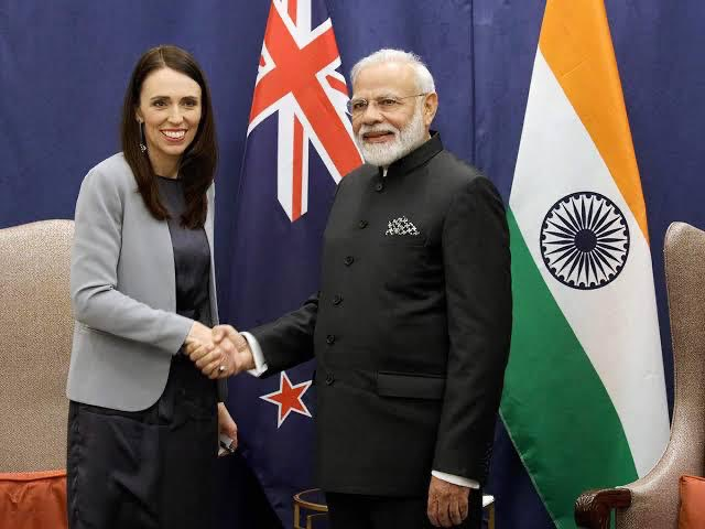Indian and New Zealand P.M.