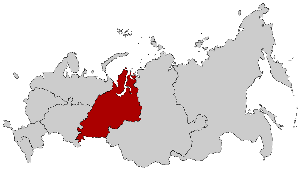 Map of Russia - Ural Federal District