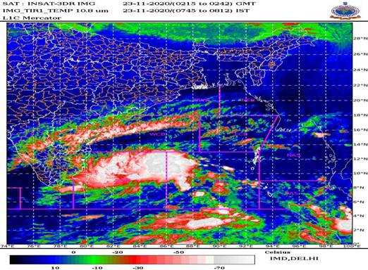 """Deep Depression intensifies into a Cyclonic Storm """"NIVAR"""" over southwest Bay of Bengal – Cyclone Alert for Tamilnadu and Puducherry coasts"""