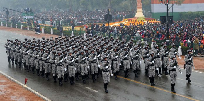 CRPF(CoBRA) personnel during the Republic Day Parade Photo by Wikipedia