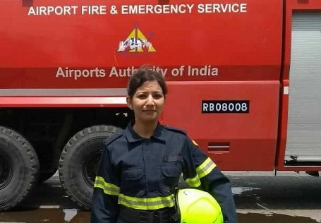 First Woman Fire Fighter Tanya Sanyal