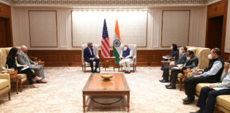 The U.S. Special Presidential Envoy for Climate, Mr. John Kerry meeting the Prime Minister, Shri Narendra Modi, in New Delhi on April 07, 2021.